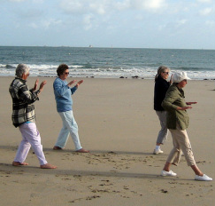 Qi Gong on the beach